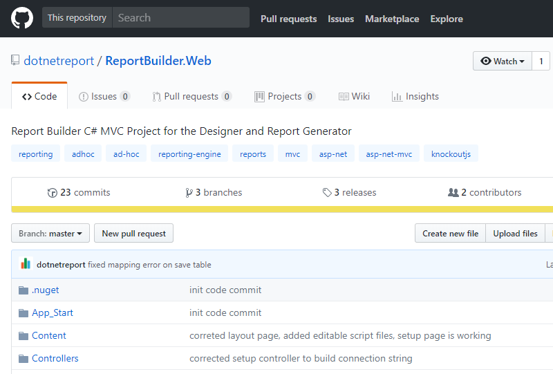 Open Source Report Builder