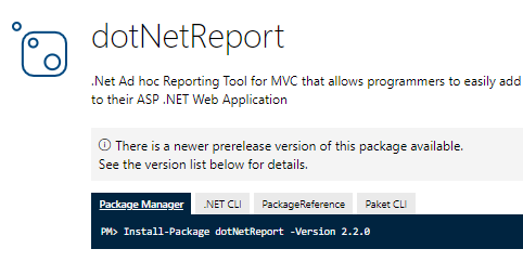 .net reporting features
